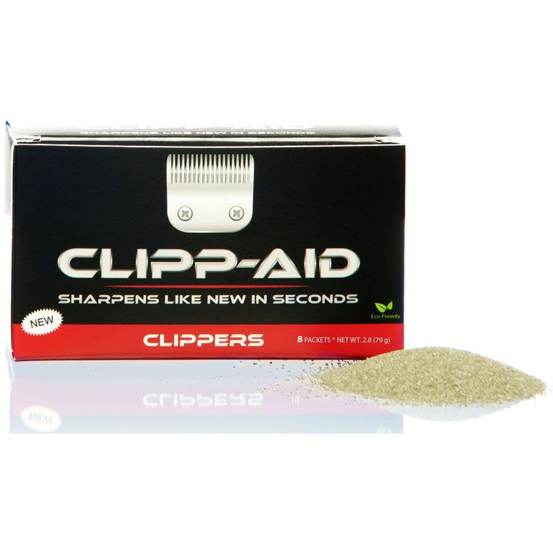 Image of Clipp-Aid Large Pet Clipper Sharpening System (Pack Of 8) (One Size) (Black/Grey) - Grp 55