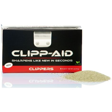 GRP 55 Clipp-Aid Large Pet Clipper Sharpening System (Pack Of 8) (One Size) (Black/Grey)
