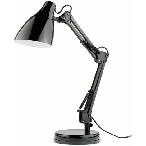 Gru 1-light black desk lamp