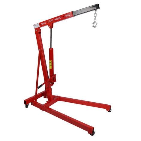 "main image of ""Grúa de taller hasta 500kg con brazo elevador 750-1290 mm para taller, garaje, motor, etc."""