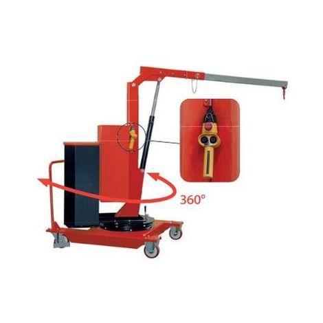 Grue d'atelier porte-à-faux électrique et rotative - Modèle : Elévation et extension électriques