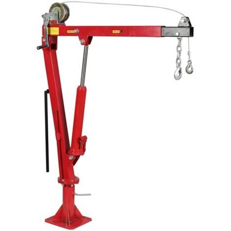 Grue Hydraulique de Levage Pliable Pivotante 0,9T Hayon pick up avec bras reglable 360° + Treuil