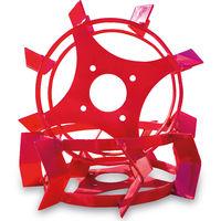 Grünwelt GW-ER340 Eisenräder 355x105 mm Schaufelräder Schaufelrad Eisenradset zum Pflügen