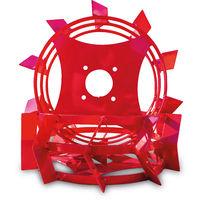 Grünwelt GW-ER430 Eisenräder 430 x 150 mm Schaufelräder Schaufelrad Eisenradset zum Pflügen