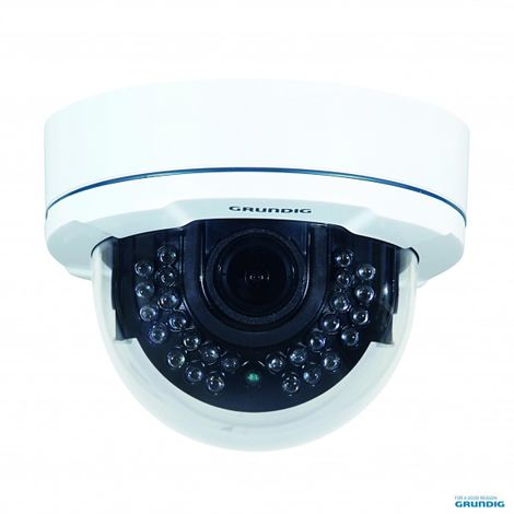 "Grundig GCA-B4327D - 1/3"" CCD camera Dome fixe 2,8~10,5mm ICR 28 LEDs IR WDR 700L"