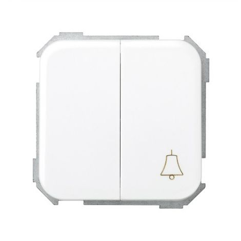 Grupo de 1 conmutador + 1 pulsador campana blanco Simon 31301-30