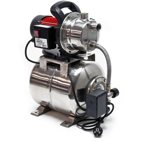 Grupo de presión 1200W 3800l/h Presostato y calderín membrana 19L Equipo doméstico suministro agua