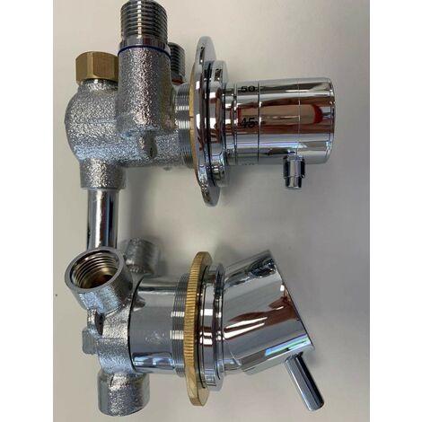 Grupo de repuestos termostáticos de 3 vías Vega Samo RIC1571 | Cromo