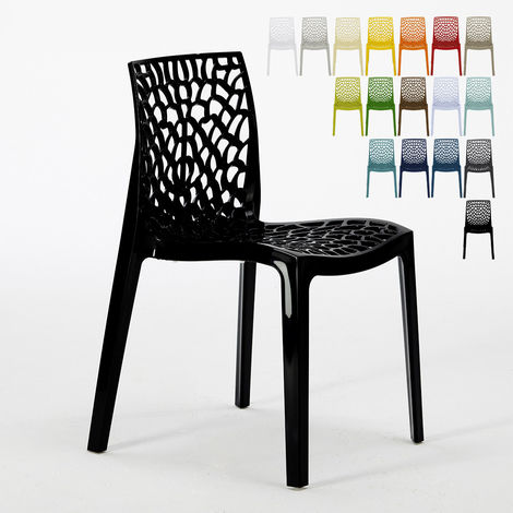 GRUVYER Grand Soleil Stackable Chair for Kitchen and Bar made of Polypropylene