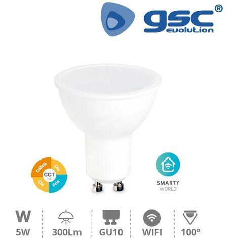 GSC Bombilla inteligente dicroica 5W GU10 2700-6500K