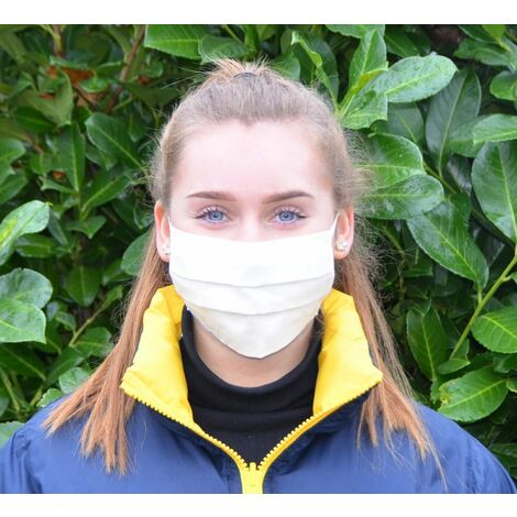 GSILVER® medizinische Gesichtsmaske Mundschutz Stoffmaske zertifiziert waschbar
