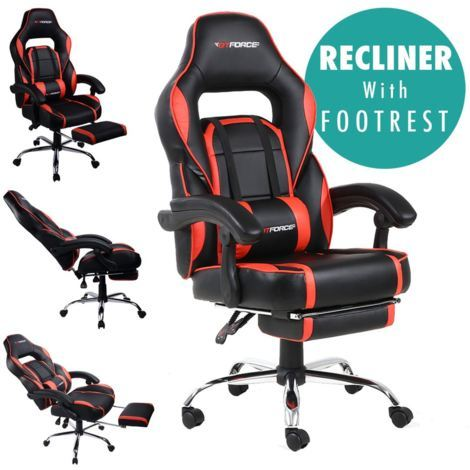 GTFORCE PACE LEATHER RACING SPORTS OFFICE CHAIR - different colors available