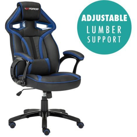 GTFORCE ROADSTER I SPORT RACING CAR OFFICE CHAIR LEATHER - different colors available
