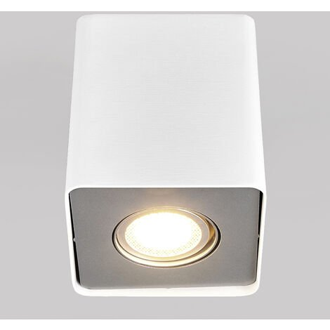 GU10 downlight LED Giliano, 1 luz, angular, blanco