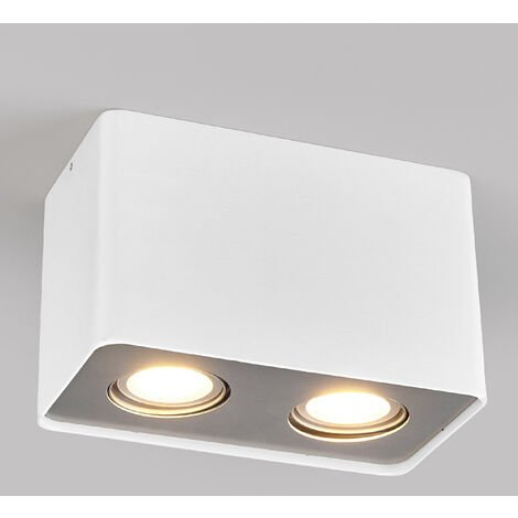 GU10 downlight LED Giliano, 2 luces angular blanco