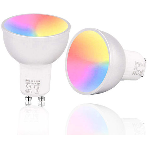 GU10 / E27 / GU5.3 Bombilla inteligente WiFi, LED RGBW 6W, regulable