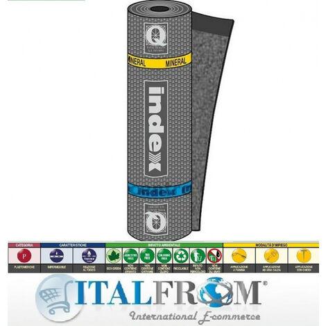 Guaina Impermeabilizzante Bituminosa Mineral Spring Poliestere - H1x10m - Italfrom