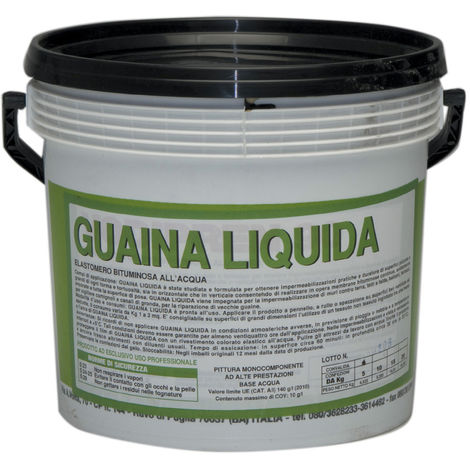 GUAINA LIQUIDA BITUMINOSA NERA KG. 5