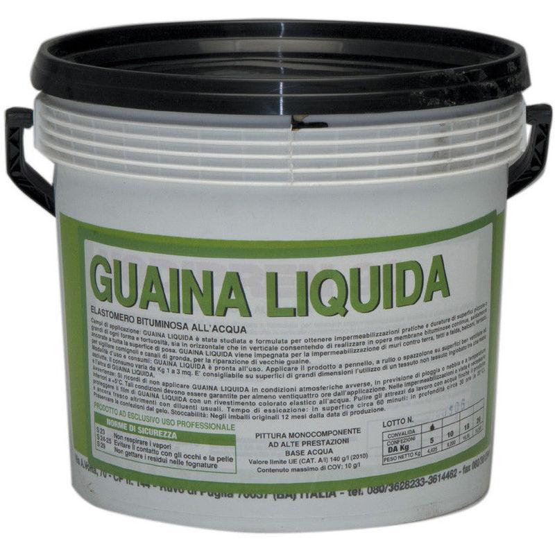 GUAINA LIQUIDA ELASTOMERO BITUMINOSA ALL ACQUA KG. 18 NERA ...