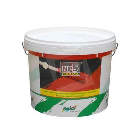 Guaina liquida fibrorinforzata da kg 10 impermeabilizzante bianco o grigio