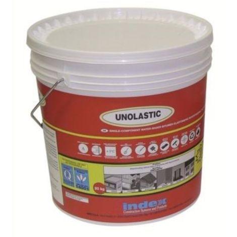 Guaina Liquida Impermeabilizzante Elastomero Bituminoso Grigio Unolastic 20 kg
