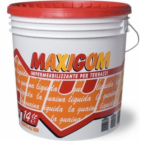 Guaina Liquida Impermeabilizzante Maxigom Laiv colore Grigio 4 Lt. Calpestabile