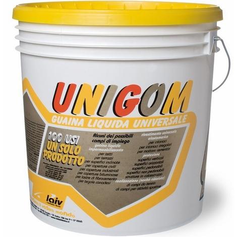 Guaina Liquida Impermeabilzzante Unigom Laiv colore Grigio 4 Kg