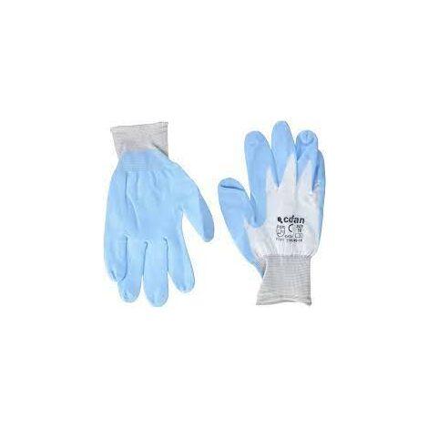 Guante Azul Uso alimentario Color Azul Celeste Talla:10 Nivel Protecci