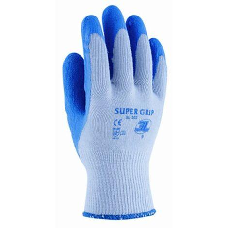 Guante construccion palma latex rugoso xl10 poliamida/algodon azul supergrip 3l