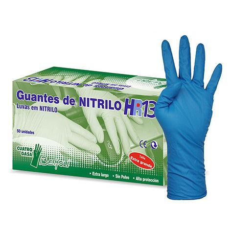 Guante de Nitrilo Alta Protección HR13 de beHOLI - Talla L