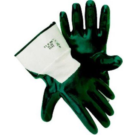 Guante de nitrilo -Mechanic blue- con puño T10 (Por 12)