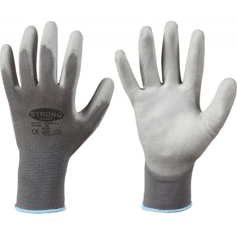 Guante de protección, Nylon, Talla 7, gris (por 12)