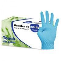 Guante Desechable Nitrilo sin polvo. Talla M (Talla 7-8 / Mediana). Paquete de 100 ud