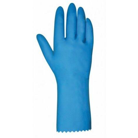 Guante Domestico M8 Natural Flocado 621B/38 Latex Azul Juba