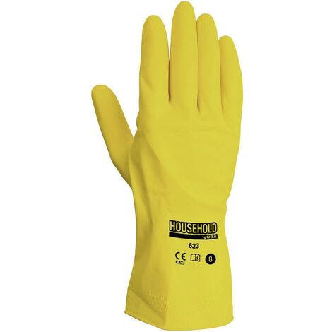 GUANTE HOUSEHOLD LATEX AMARILLO T/9