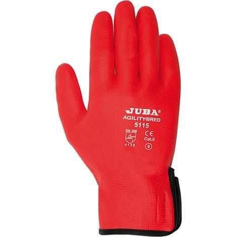 Guante Juba Nylon/nitrilo Foam H5115 Rojo T-8