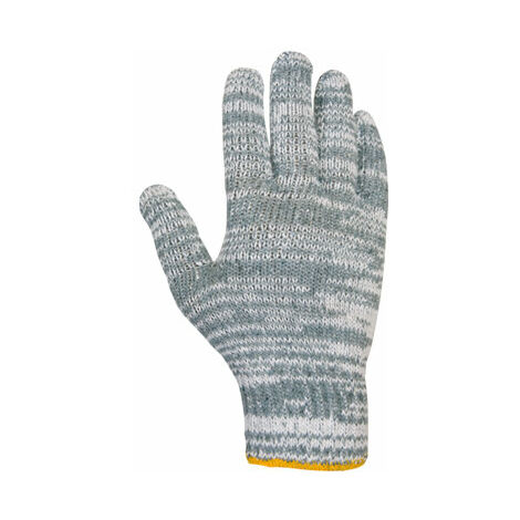 Guante lana Juba gris blanco Bolsa de 12 pares