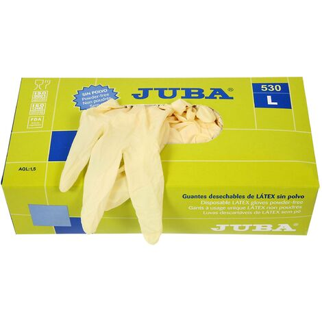 Guante latex desechable sin polvo TM 100 UDS Juba