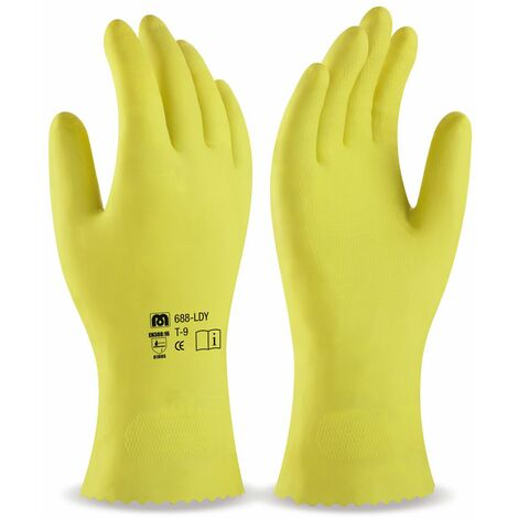 Guante latex domestico amarillo T/8