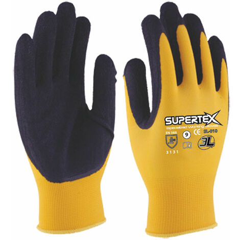 GUANTE LATEX NYLON SUPERTEX SL010 T10