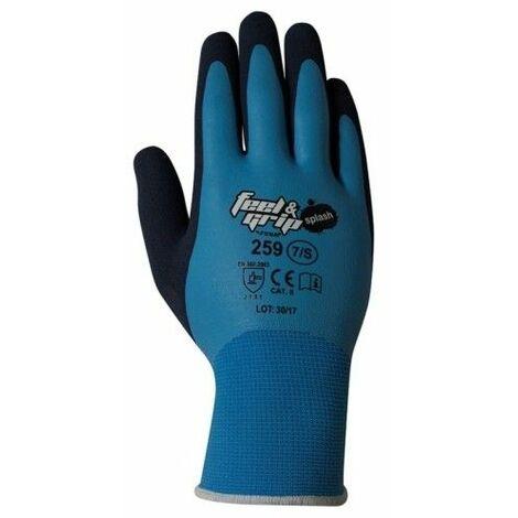 Guante Mecanico L9 Feel And Grip Splash Nylon/Latex Azul/Gris Ju