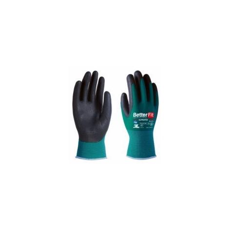 Guante mecanico s07 3l nylon/latex ve/ne bl-015 supra tex t-