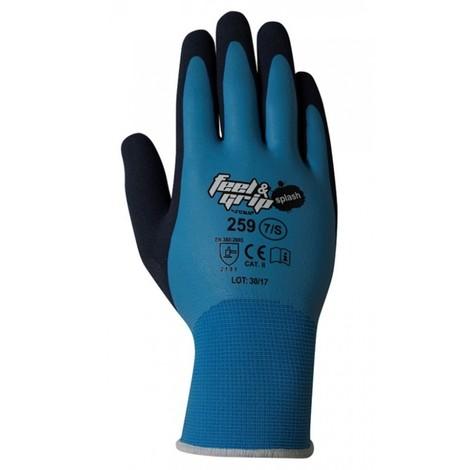 Guante mecanico xl10 feel and grip splash nylon/latex az/gr