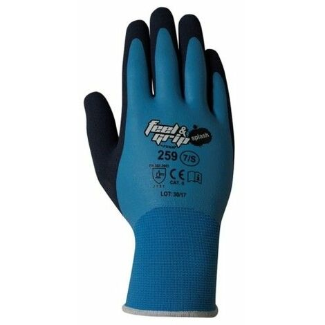 Guante Mecanico Xl10 Feel And Grip Splash Nylonon/Latex Azul/Gris