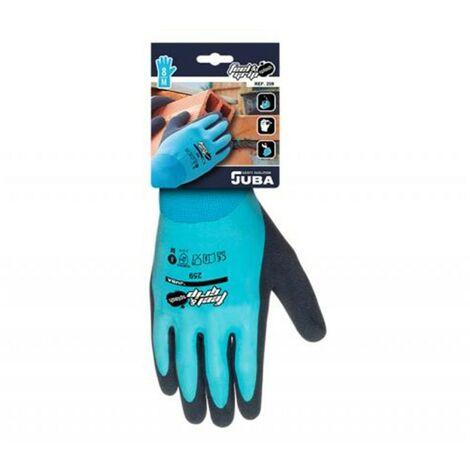 Guante mecanico xl10 juba nylon/latex az/gr feel and grip sp