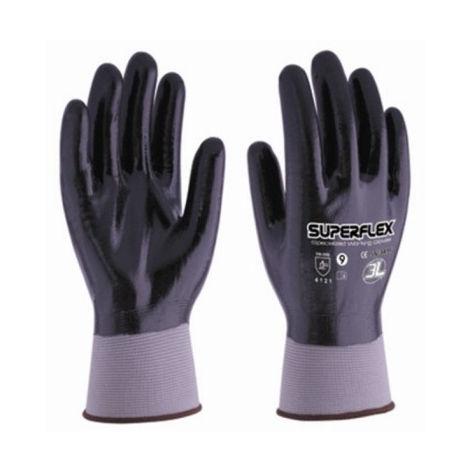 Guante mecanico xl10 palm/dorso nit superflex nyl ne 3l