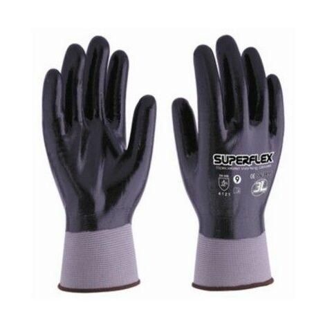 Guante Mecanico Xl10 Palma/Dorso Nitrilo Superflex Nylon Negro 3L