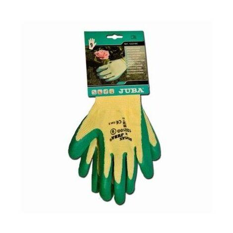 Guante Mecanico Xl10 Palma Latex Eco-Flex Poliester/Algodon Verde Juba