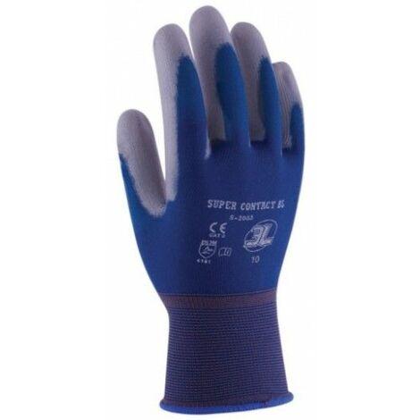 Guante Mecanico Xl10 Palma Poliuretano Supercontact Nylon Azul 3L