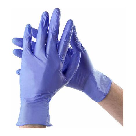 Guante Nitrilo Azul Sin Polvo Calidad Superior Talla L 100 Unidades